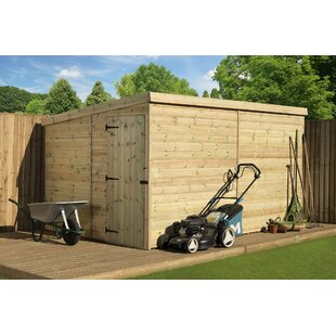 Birchwood 8 Ft. W X 10 Ft. D Shiplap Pent Wooden Shed By Union Rustic