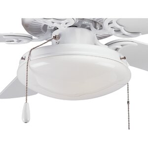 2-Light Frosted Glass Bowl Ceiling Fan Light Kit