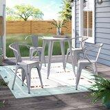 Cordele Metal Indoor/Outdoor 5 Piece Dining Set