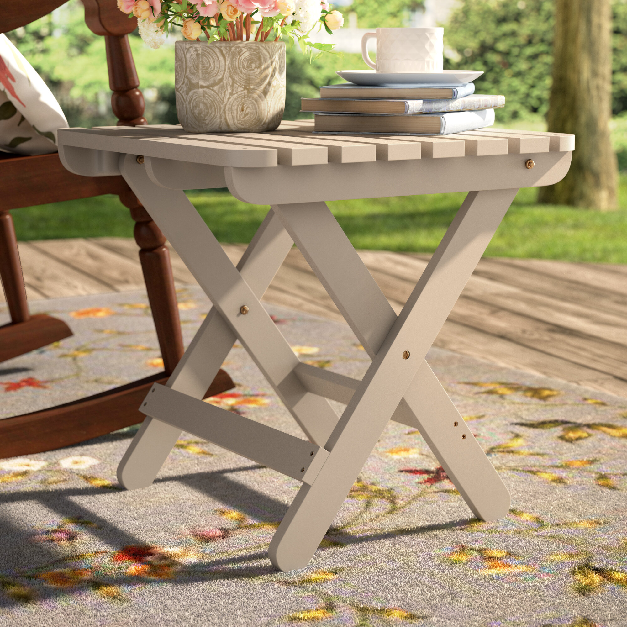 Superbe August Grove Makenzie Adirondack Folding Table U0026 Reviews | Wayfair
