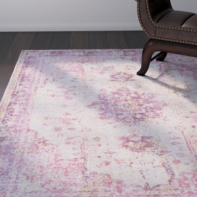 Kahina Pink Gray Area Rug