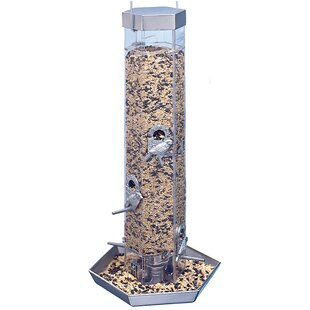 North States Silver Prism Combo Tube Bird Feeder