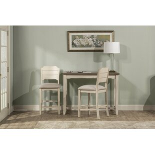 Rosecliff Heights Clary 3 Piece Counter Height Breakfast Nook Dining Set