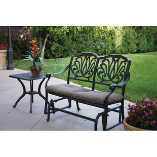 Lebanon Gliding Bench with Cushions Three Posts