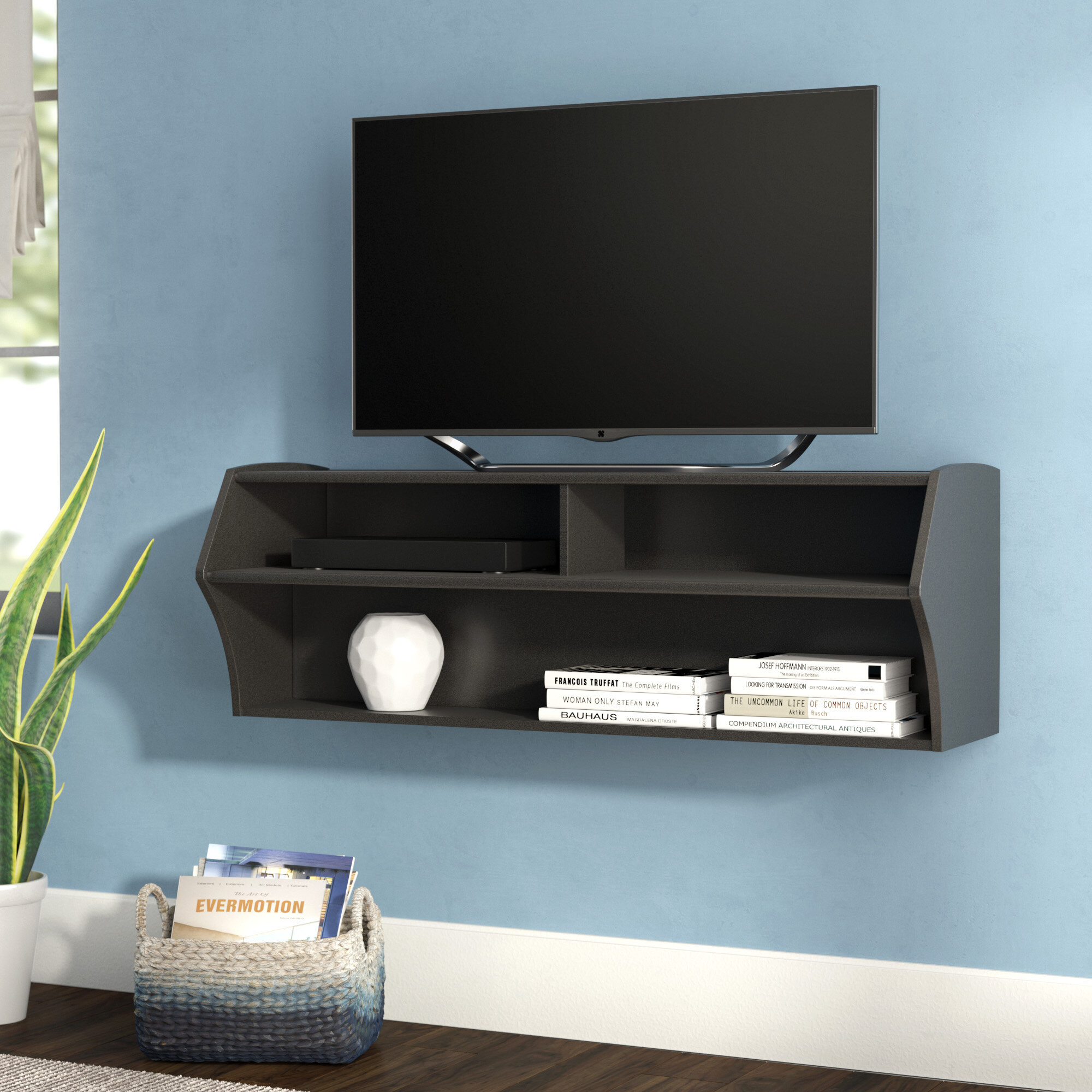 Surprising Capirano Floating Tv Stand For Tvs Up To 55 Inches Gmtry Best Dining Table And Chair Ideas Images Gmtryco