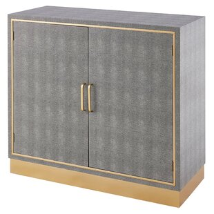 Doerr Faux Shagreen 2 Door Accent Cabinet by Mercer41