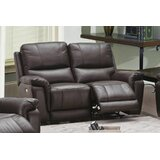 Ziya 64 Wide Faux Leather Pillow Top Arm Reclining Loveseat by Red Barrel Studio®