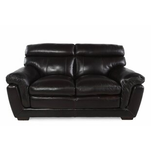 LYKE Home Leather Loveseat