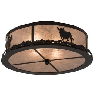 Loon Peak Pettus 2-Light Flush Mount
