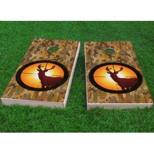 Custom Cornhole Boards Camo Deer Hunter Cornhole Game (Set of 2)