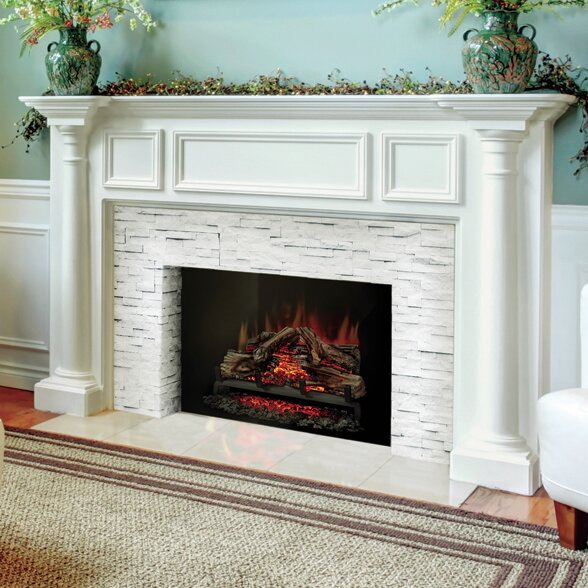 crawford white electric amazon com fireplace dp flame real w artificial