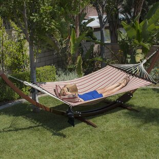 Willsboro Wooden Curved Arc Hammock with Stand by Loon Peak