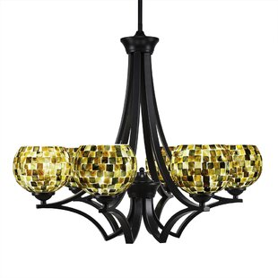 World Menagerie Cambridge 6-Light Shaded Chandelier
