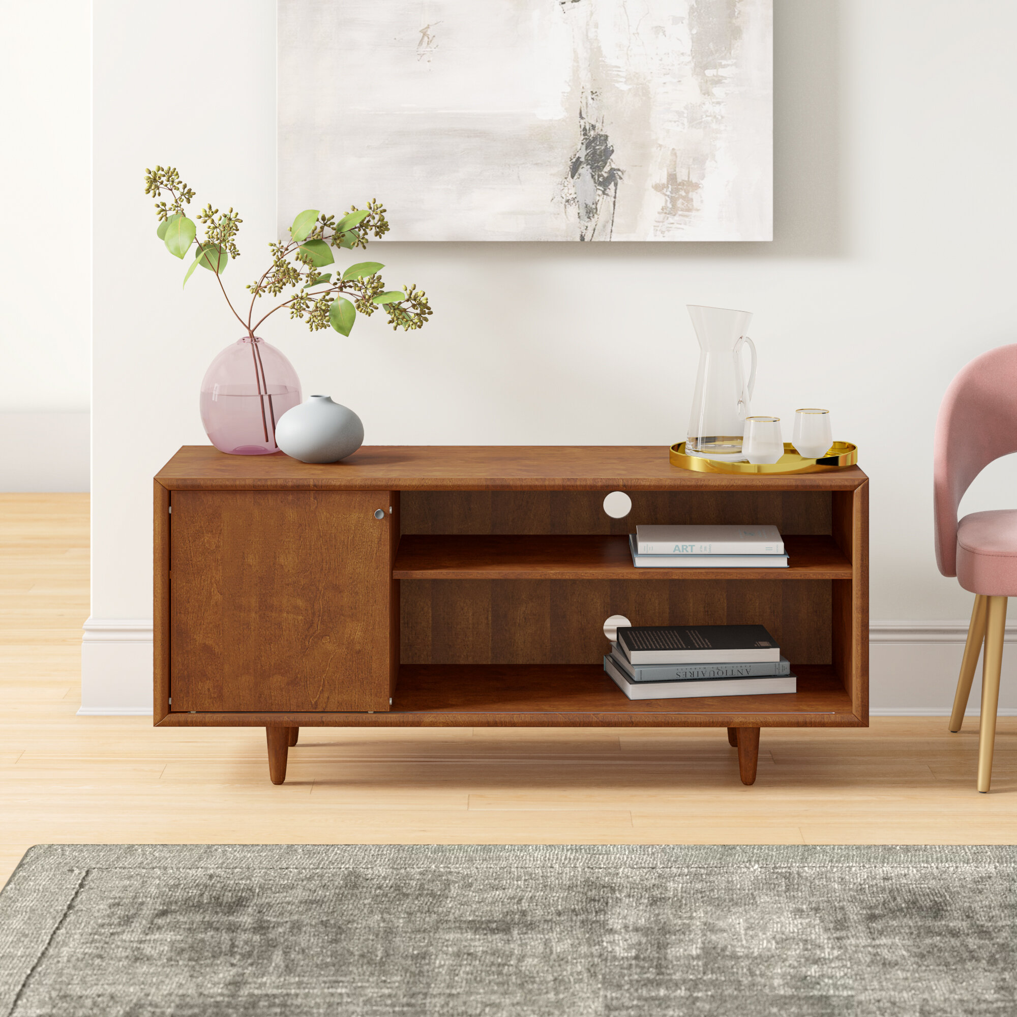 Wade Logan Stacey Tv Stand For Tvs Up To 60 Reviews Wayfair