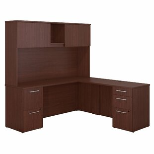 300 Series L-Shaped Executive Desk with Hutch