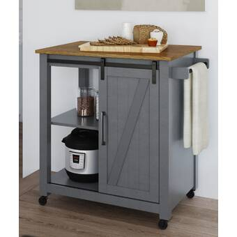 Williston Forge Denice Multifunction Kitchen Cart Reviews Wayfair