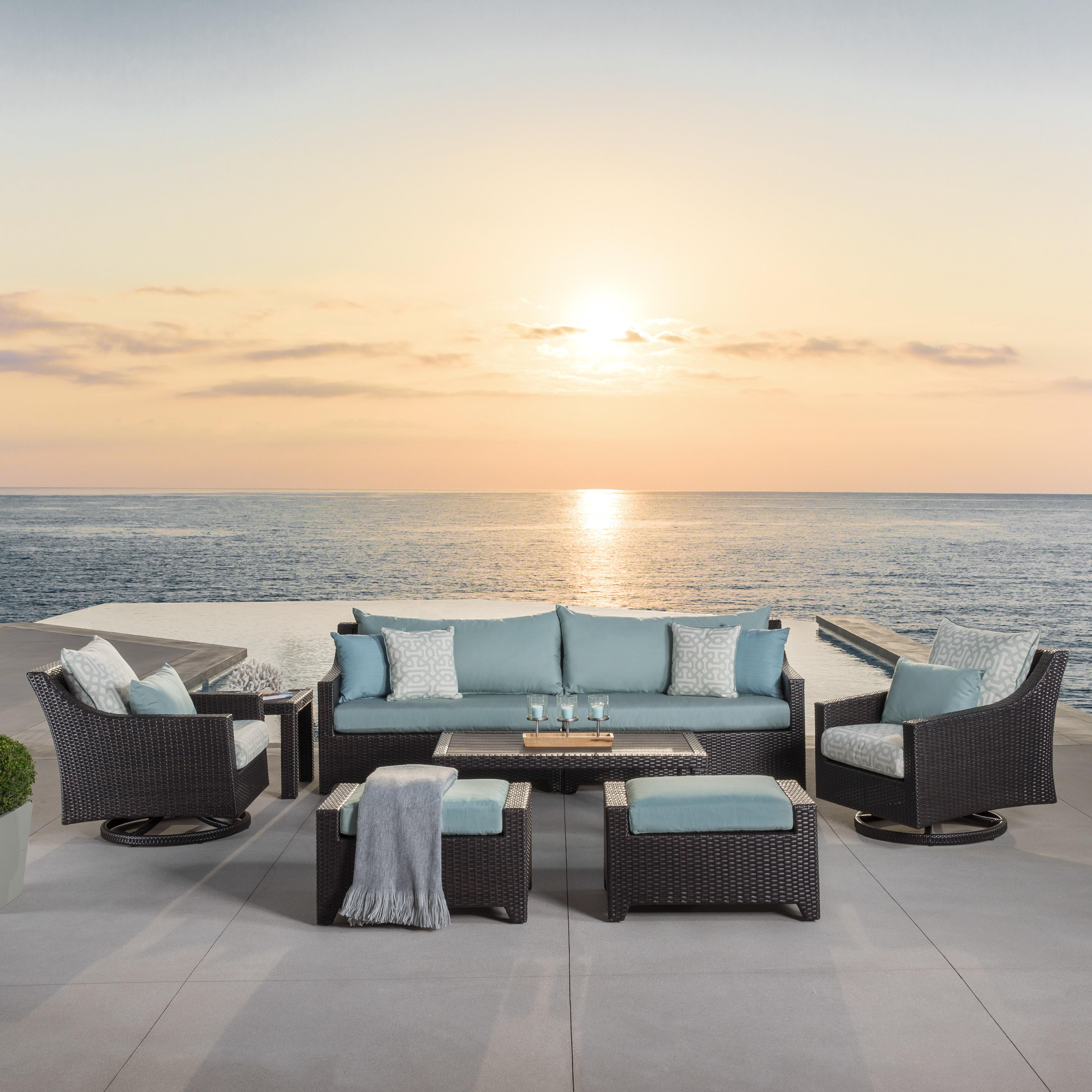 Three Posts Northridge 8 Piece Sofa Set with Cushions & Reviews ...