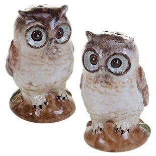 Nature 3D Owl Salt & Pepper Shaker Set