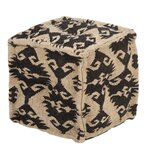 Stalcup 16'' Tufted Square Damask Pouf Ottoman by Foundry Select