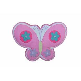 Butterfly 100% Cotton Throw Pillow