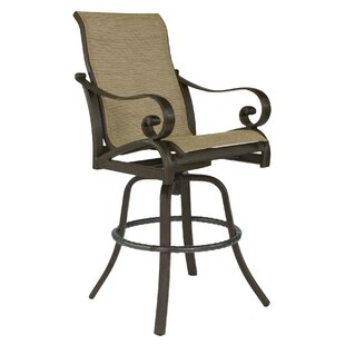 Veracruz Sling Swivel Patio Bar Stool