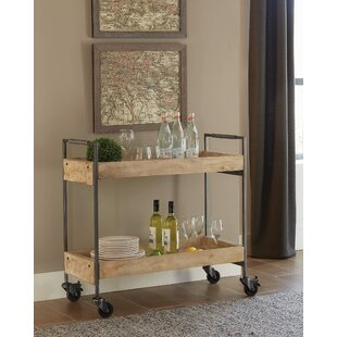 Casias 2 Tier Serving Bar Cart by Williston Forge
