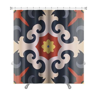 Affordable Delta Oriental Traditional Floral Ornament, Moroccan Premium Shower Curtain ByGear New