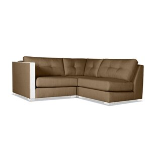 Steffi Buttoned L-Shape Mini Modular Sectional by Orren Ellis Today Sale Only