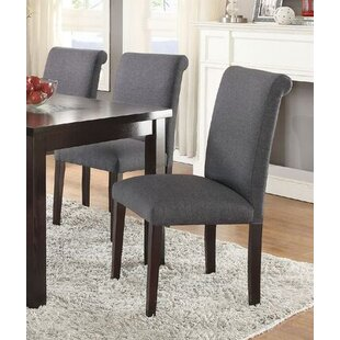 Charlton Home Crewkerne Rubber Wood Upholstered Dining Chairs (Set of 2)