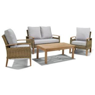 Cirillo 4 Piece Sofa Seating Group with Cushions