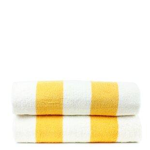 Isiah 100% Cotton Beach Towel (Set of 2)