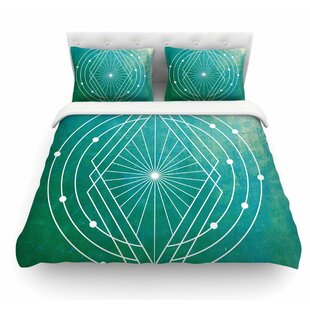 Atlantis by Matt Eklund Geometric Featherweight Duvet Cover