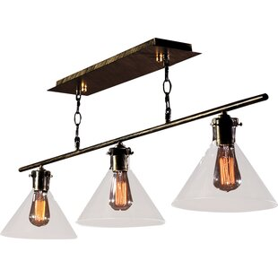 Warehouse of Tiffany Amerie Edison 3-Light Kitchen Island Pendant