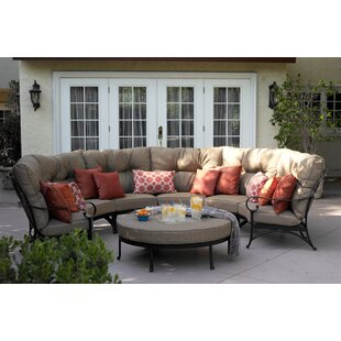Darby Home Co Lanesville 5 Piece Sectional Set with Cushions