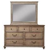 Melbourne 7 Drawer Dresser with Mirror by One Allium Way®