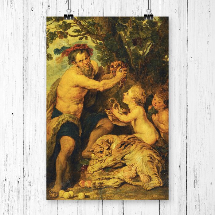 Man With A Tiger By Peter Paul Rubens Painting Print