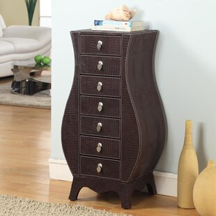 Wildon Home ® Cesay Jewelry Armoire with Mirror