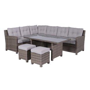 Odion 7 Seater Rattan Corner Sofa Set Image