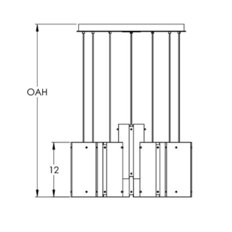 Hammerton Studio 8 Light Cluster Cylinder Pendant Perigold