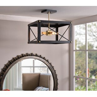 Mandy 4-Light Semi Flush Mount by Breakwater Bay