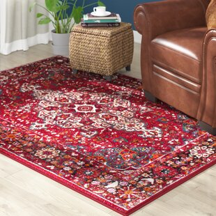 Mcconnell Red Area Rug by Bloomsbury Market