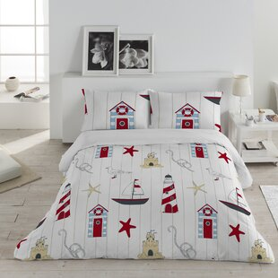 Breakwater Bay Lighthouse Cotton 3 Piece Queen Duvet Set