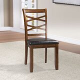 Lillehammer Ladder Back Side Chair in Brown/Black (Set of 2) by Red Barrel Studio®