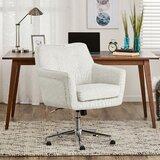 Stupendous White Fuzzy Fur Desk Chair Wayfair Inzonedesignstudio Interior Chair Design Inzonedesignstudiocom