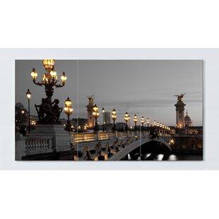 Bridge Motif Magnetic Wall Mounted Cork Board By Ebern Designs