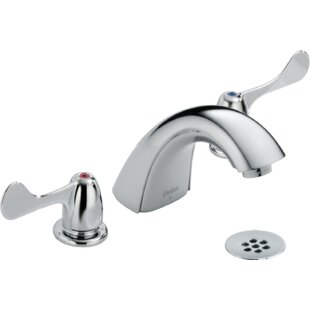 Delta Two Handle Widespread faucet Bathroom Faucet with Drain Assembly