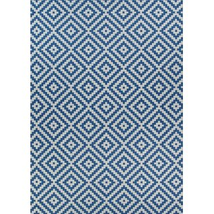 Tryphena Sea and Dune Blue/Brown Indoor/Outdoor Area Rug