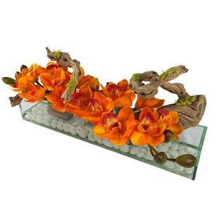 Cymbidium Aquarium Orchid Floral Arrangement in Vase