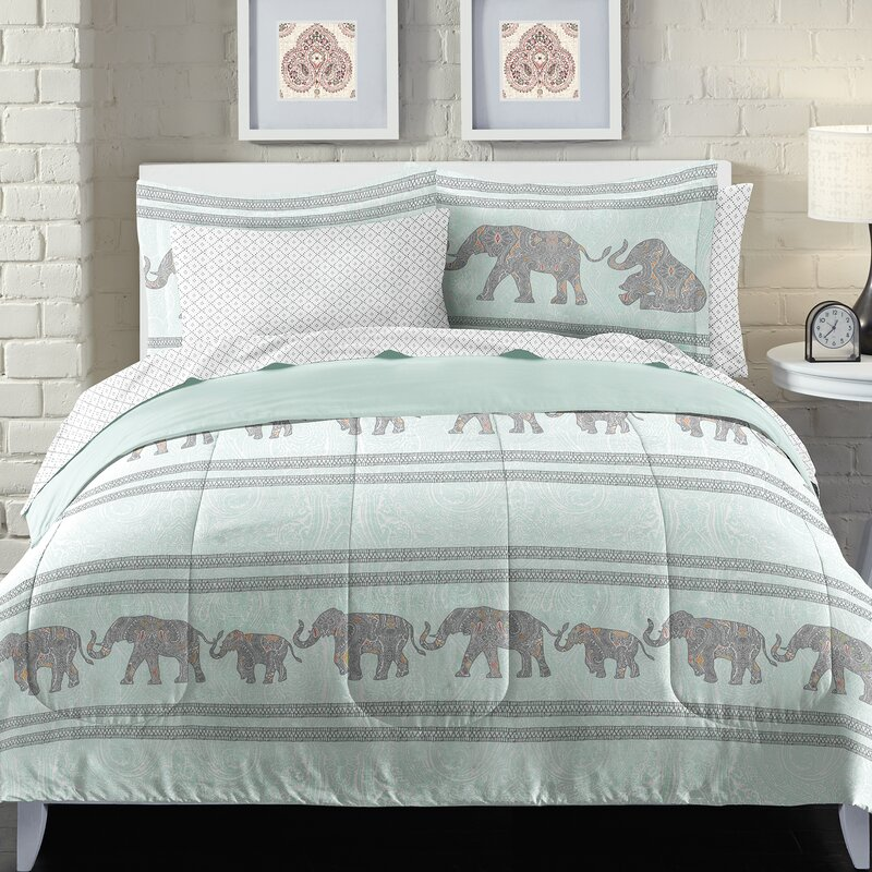 Boho Elephant Bed in a Bag Set