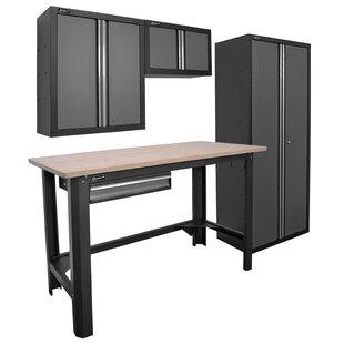 4 Piece Garage Series Cabinet Set by Homak